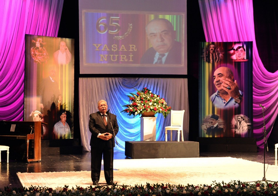 Yaşar Nurinin 65 illik yubiley gecəsi keçirilib
