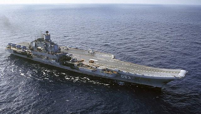 Русский истребитель МиГ-29 рухнул вСредиземное море рядом с«Адмиралом Кузнецовым»