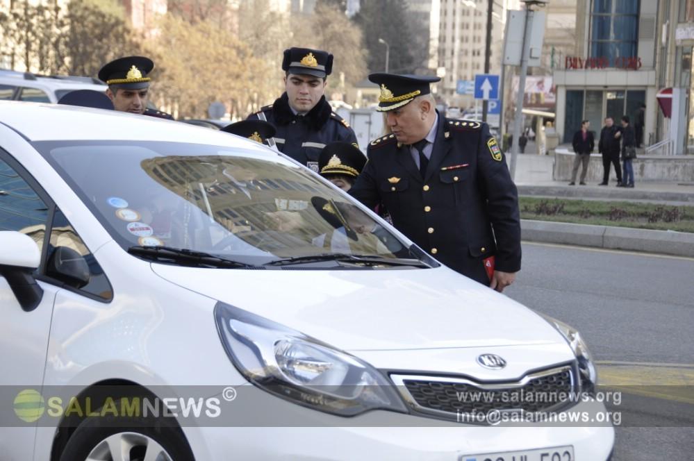 Yol Polisi Bakıda qadın sürücülərlə bağlı reyd keçirib