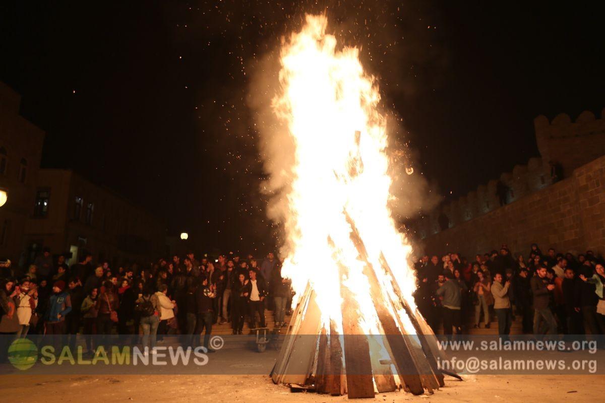 Азербайджане отмечается последний предпраздничный вторник Новруза «Илахыр Чершенбе»