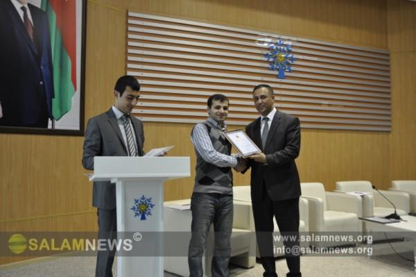 SalamNews Gənc Diplomatlar Birliyi tərəfindən mükafata layiq görülüb