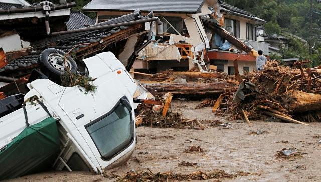 ВЯпонии из-за сильных дождей пострадали неменее 20 человек