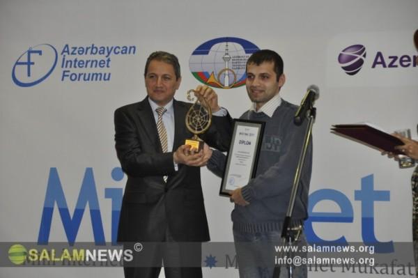 """SalamNews İnformasiya Agentliyi """"Milli Net 2011"""" müsabiqəsinin qalibi olub"""