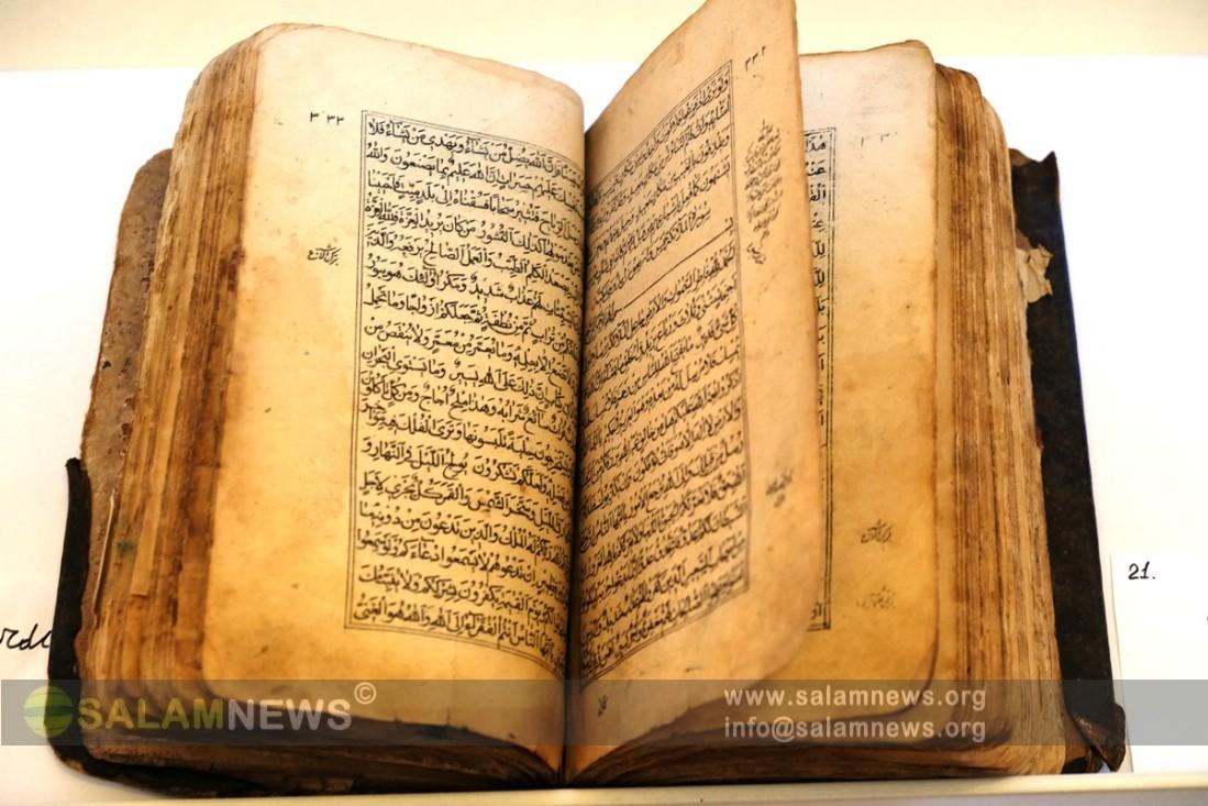 """Milli Kitabxanada """"Quran nüsxələri"""" sərgisi böyük maraq doğurub"""