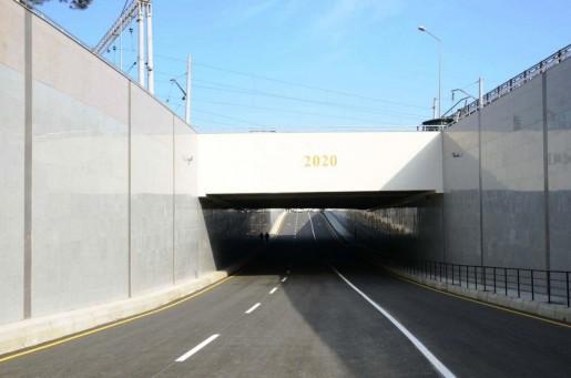 Bakıda iki yeni avtomobil tuneli istifadəyə verilib