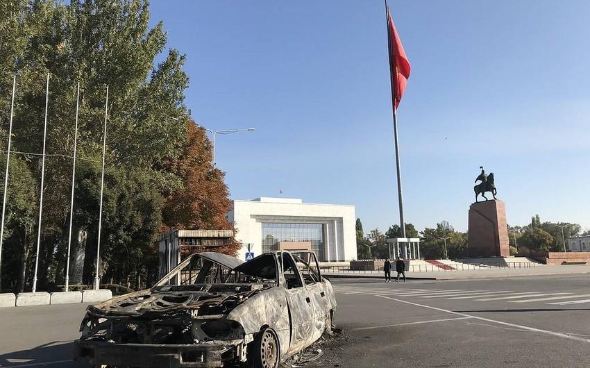 ВБишкеке полиция  начала разгон протестующих
