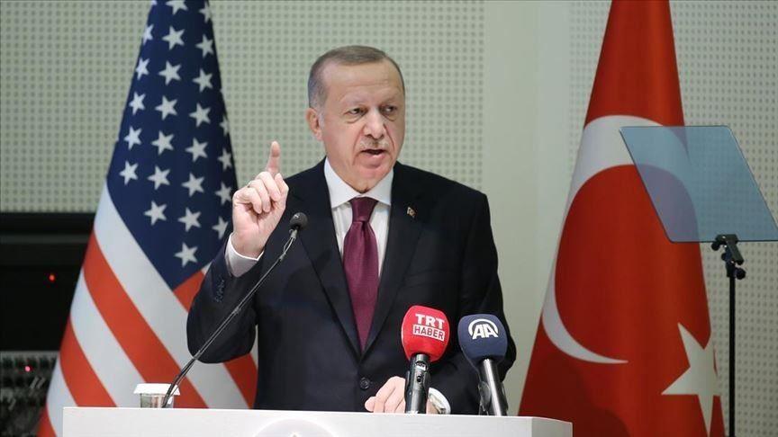 Merilenddəki Amerika Dini Mərkəzində çıxışı zamanı Türkiyə prezidenti Rəcəb Tayyib Ərdoğan ile ilgili görsel sonucu