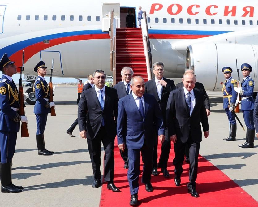 Rusiya Prezidenti Vladimir Putinin Azərbaycana səfəri