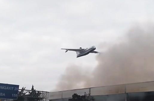 Bakı bazarındakı yanğının söndürülməsi üçün FHN helikopterləri və Be-200 amfibiya təyyarələri cəlb edilib