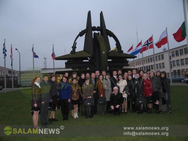 Лучшие выпускники Зимней Академии - 2011 побывали в Штаб-квартире НАТО