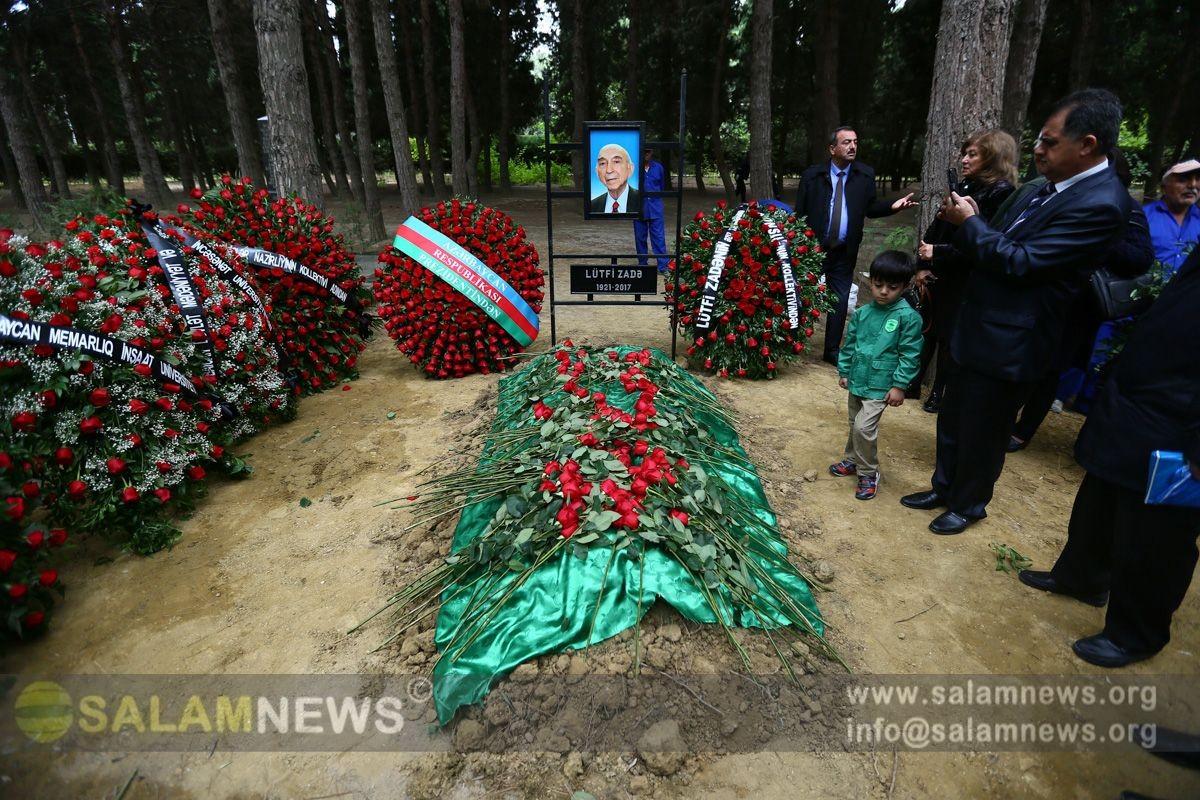 Лютфи Заде похоронен в I Аллее почетного захоронения