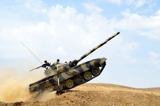 """""""Ən yaxşı tank heyəti"""" adı uğrunda yarışlar keçirilib (FOTOLAR)"""