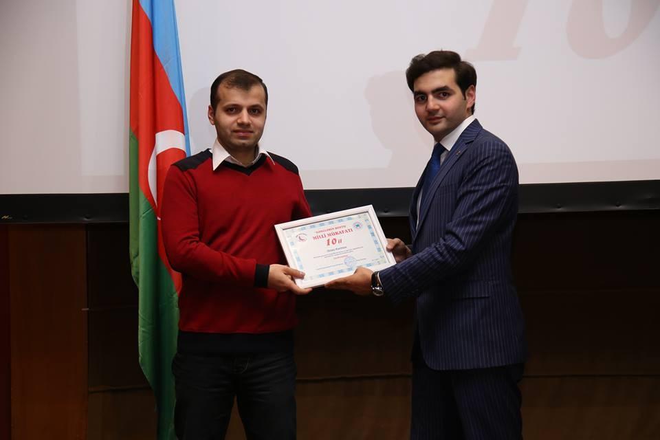 SalamNews-un əməkdaşı Gənclərin Dostu Milli Mükafatına layiq görülüb