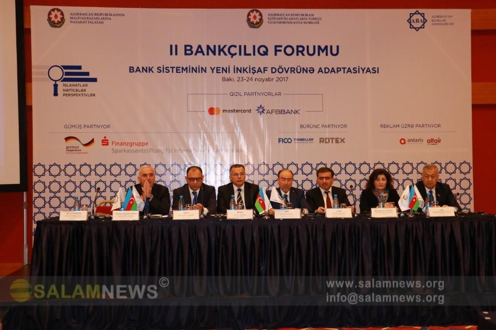 """Bakıda II """"Bankçılıq Forumu"""" keçirilib"""