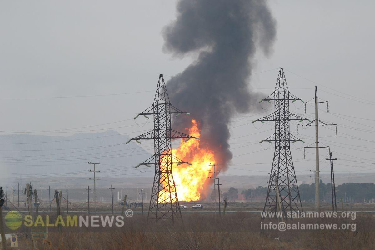 В Баку на магистральном газопроводе произошел взрыв