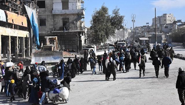 Изсирийского Алеппо выехала 3-я колонна сбоевиками