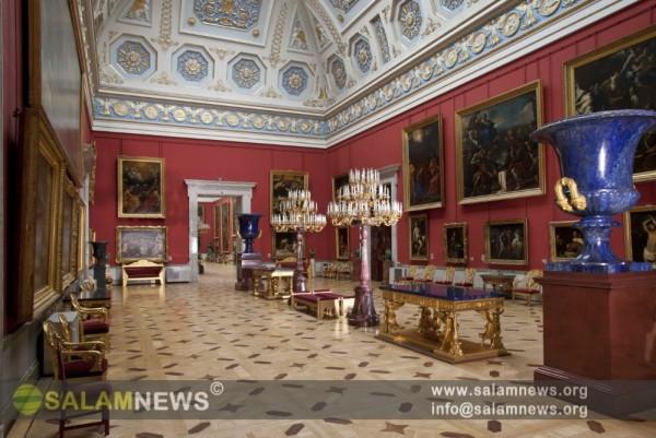 Sankt-Peterburq şəhərindəki Dövlət Ermitaj muzeyi
