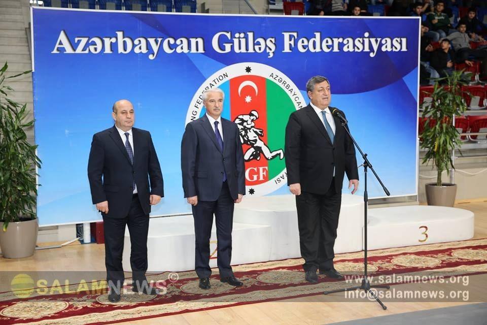 Güləş üzrə Azərbaycan çempionatının açılış mərasimi keçirilib