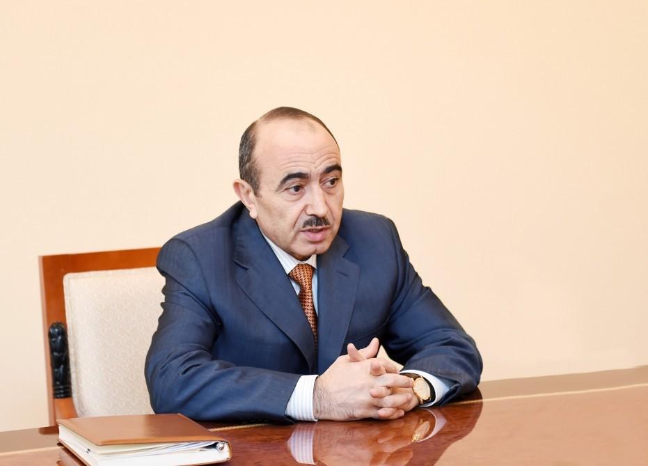 Image result for İlham Əliyev və Əli Həsənov