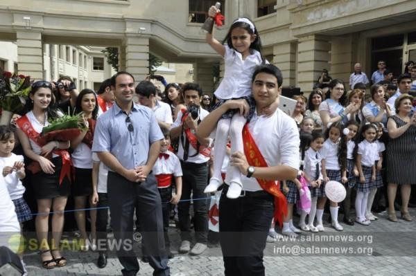 """Bakının 18 nömrəli orta məktəbində """"son zəng"""" olub"""