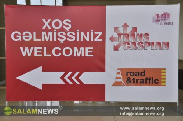 """Bakıda """"TransCaspian"""" 10-cu Yubiley Beynəlxalq Nəqliyyat, Tranzit və Loqistika sərgisi açılıb"""