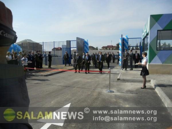 Блаттер и Платини открыли новую спортивную арену в Азербайджане