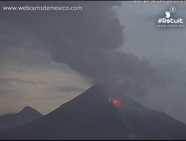 Из-за активности вулкана Колима вМексике эвакуировали 300 человек