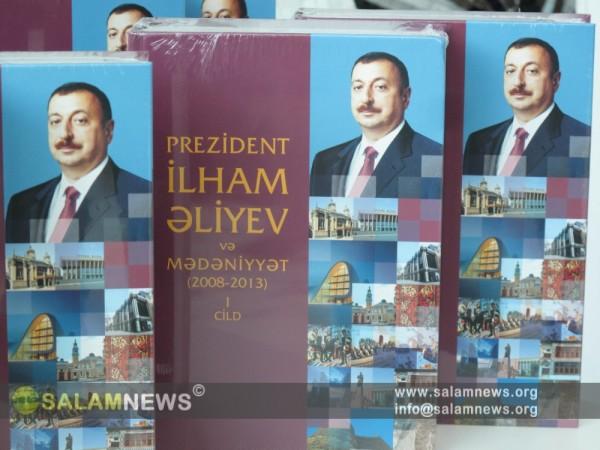 """""""Prezident İlham Əliyev və mədəniyyət 2008-2013"""" kitabının təqdimatı olub"""