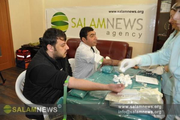 SalamNews agentliyi və İnterAz telekanalının əməkdaşları qanvermə aksiyasında iştirak ediblər