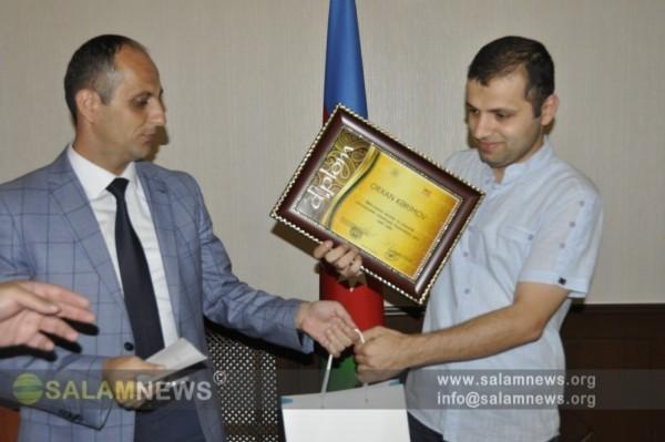 SalamNews-un əməkdaşı Dövlət Komitəsi və AMŞ tərəfindən təltif edilib