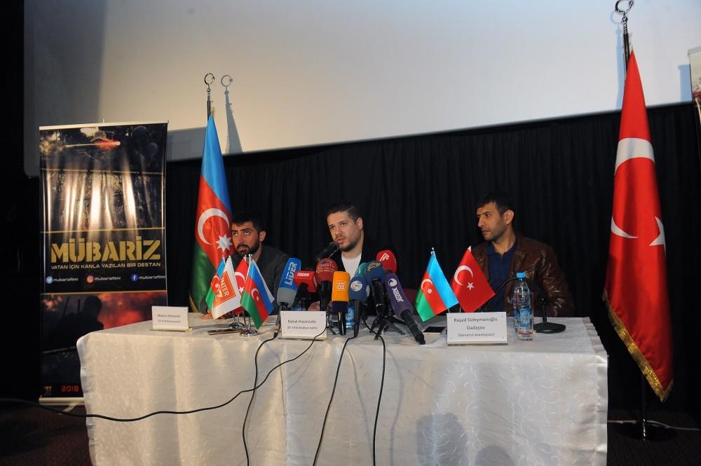 Тизер фильма "Мубариз" представлен журналистам
