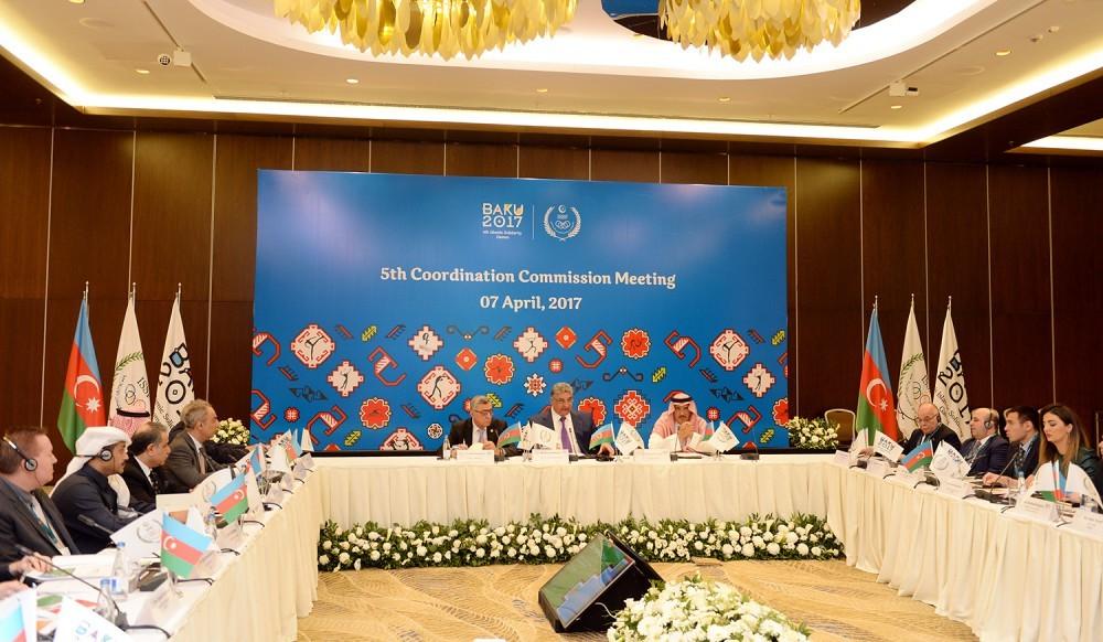 İslam Həmrəyliyi Oyunlarının Koordinasiya Komissiyasının V iclası keçirilib