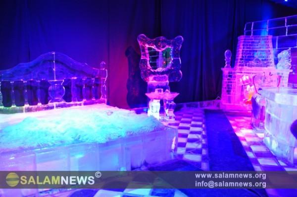 Moskvanın Sokolniki parkında dünyanın möhtəşəm buz muzeyi açılıb