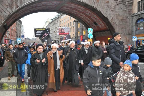 В столице Швеции мусульмане прошли многотысячным шествием по случаю Ашуры