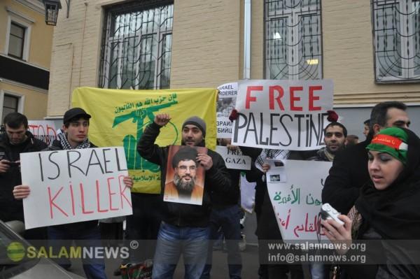 В Москве прошла акция протеста против военной агрессии Израиля в секторе Газа