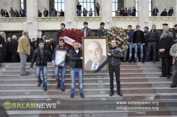 В Академическом национальном драмтеатре прошла церемония прощания с народным артистом Яшаром Нури