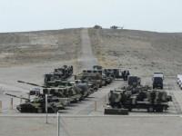 К учениям в Баку были привлечены более 290 танков, бронемашин, самолетов и вертолетов