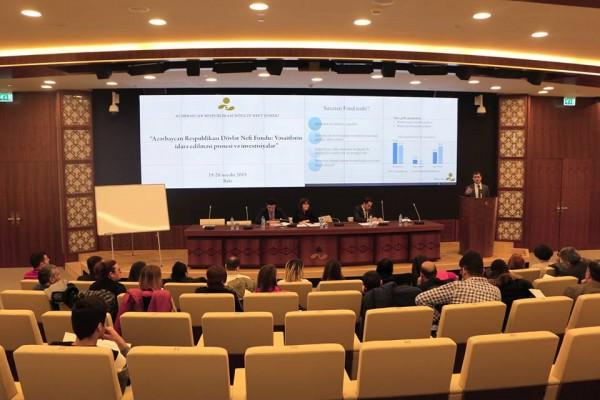Dövlət Neft Fondunda KİV nümayəndələri üçün seminar keçirilib