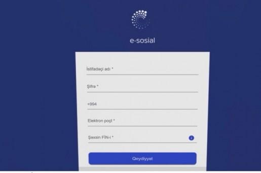 """""""E-sosial"""" internet portalı Azərbaycanda ilk dəfə olmaqla sosial reyestri formalaşdırıb"""