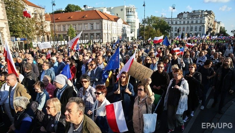 ВВаршаве проходит антиправительственный «Марш свободы»