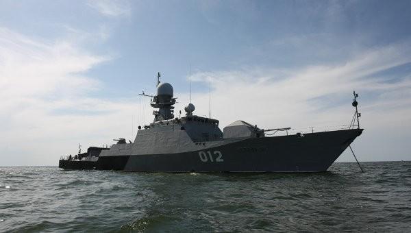 Корабли Каспийской флотилии вышли вморе намасштабные учения